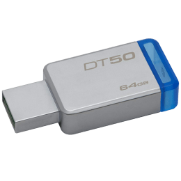 Kingston Data Traveler 64GB USB 3.0 Flash Drive (DT50/64GBIN, Blue)_1