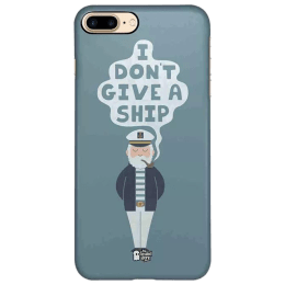 The Souled Store Don't Give A Ship Polycarbonate Mobile Back Case Cover for Apple iPhone 8 Plus (75376, Blue)_1