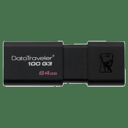 Kingston Data Traveler 64GB USB 3.0 Flash Drive (DT100G3/64GBIN, Black)_1