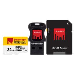 Strontium Nitro 466X 32GB MicroSDHC Memory Card (SRN32GTFU1C, White/Yellow)_1