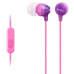Sony In-Ear Wired Earphones with Mic (MDR-EX15AP, Violet)_1