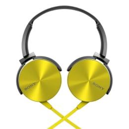 Sony headphone MDR-XB450 Yellow_1