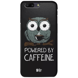 The Souled Store Caffeine Addict Polycarbonate Mobile Back Case Cover for OnePlus 5 (54067, Black)_1
