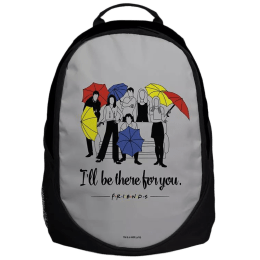 The Souled Store F.R.I.E.N.D.S- I'll Be There You Travel Backpack (Black)_1