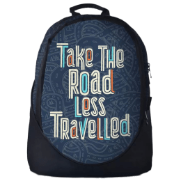 The Souled Store Road Less Traveled 25 Litres Laptop Backpack (Blue/Black)_1