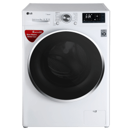 LG 8 kg Fully Automatic Front Loading Washing Machine (FHT1408SWW, Blue White)_1
