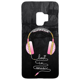 Cangaroo Music Lover Polycarbonate Hard Back Case Cover for Samsung Galaxy S9 (HD_SamS9_Kri_018_MUSKBL, Black)_1