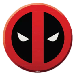 The Souled Store Deadpool Face Sticker (Red/Black)_1
