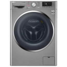 LG 9/5 kg Fully Automatic Front Loading Washing Machine (F4J8VHP2SD, Stainless Steel)_1