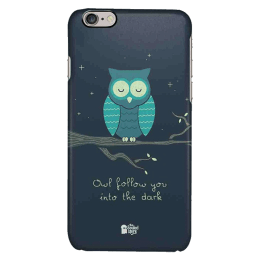 The Souled Store Romantic Owl Polycarbonate Mobile Back Case Cover for Apple iPhone 6 (75314, Space)_1