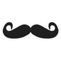 The Souled Store Got Moustache? Sticker (Black)_1