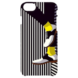 Cangaroo Textured with Shoes Polycarbonate Hard Back Case Cover for Apple iPhone 7/8 (HD_i7_Kri_019_BWFOOT, Black)_1