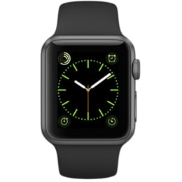 Apple Watch 38 mm Space Grey Aluminium Case with Black Sport Band (MJ2X2HN/A)_1