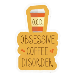 The Souled Store Obsessive Coffee Disorder Sticker (Yellow)_1