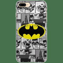The Souled Store Batman - Comics Polycarbonate Back Case Cover for Apple iPhone 8 Plus (73948, Grey)_1
