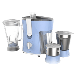 Philips Daily Collection 600 Watts 3 Jars Juicer Mixer Grinder (Torque X Motor, HL7576/00, Blue)_1