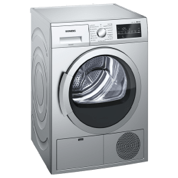 Siemens 8 kg Front Loading Condenser Tumble Dryer (WT46G402IN, Silver)_1