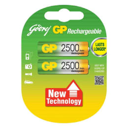 Godrej GP 2500 mAh Ni-MH AA Rechargeable Batteries (069T2M2D, As Per Stock Availability) (Pack of 2)_1