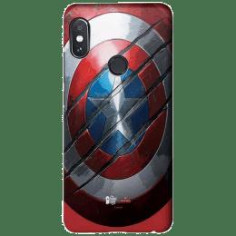 The Souled Store Captain America - Shield Polycarbonate Back Case Cover for Xiaomi Redmi Note 5 Pro (118472, Multicolor)_1