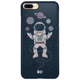 The Souled Store Planet Juggler Polycarbonate Mobile Back Case Cover for Apple iPhone 8 Plus (75380, Black)_1
