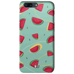 The Souled Store Watermelons Polycarbonate Mobile Back Case Cover for OnePlus 5 (62857, Green)_1