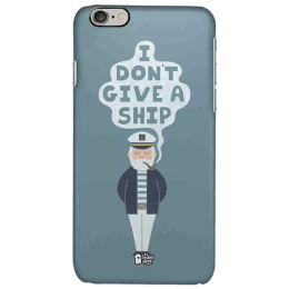 The Souled Store Don't Give A Ship Polycarbonate Mobile Back Case Cover for Apple iPhone 6S (75342, Blue)_1