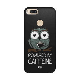 The Souled Store Caffeine Addict Polycarbonate Mobile Back Case Cover for Xiaomi Mi A1 (73556, Black)_1