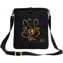 Clean Planet Canvas Sling Bag for Tablets (CP_COVERS_TAB_CANV, Black)_1