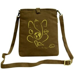 Clean Planet Canvas Sling Bag for Tablets (CP_COVERS_TAB_CANV, Brown)_1