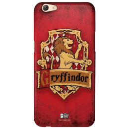 The Souled Store Harry Potter - Gryffindor Sigil Polycarbonate Mobile Back Case Cover for Oppo F3 (45129, Red)_1