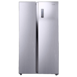 Croma 592 L 3 Star Frost Free Double Door Side-by-Side Inverter Refrigerator (CRAR2621, Silver)_1