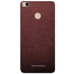 The Souled Store Vintage Leather Mobile Back Case Cover for Xiaomi Mi Max 2 (69116, Distressed Brown)_1