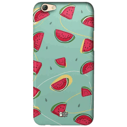 The Souled Store Watermelons Polycarbonate Mobile Back Case Cover for Oppo F3 (67285, Peppermint Cream)_1