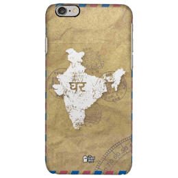 The Souled Store India Map Polycarbonate Mobile Back Case Cover for Apple iPhone 6S (40560, Brown)_1