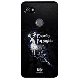 The Souled Store Harry Potter - Expecto Patronum Polycarbonate Mobile Back Case Cover for Google Pixel 2 XL (80256, Black)_1