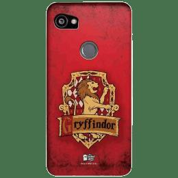The Souled Store Harry Potter - Gryffindor Sigil Polycarbonate Mobile Back Case Cover for Google Pixel 2 XL (80244, Caramel Brown)_1