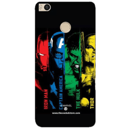 The Souled Store Avengers - Heroes Polycarbonate Mobile Back Case Cover for Xiaomi Mi Max 2 (68537, Black)_1