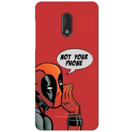 The Souled Store Deadpool - Not Your Phone Polycarbonate Mobile Back Case Cover for Nokia 6 (72088, Red)_1
