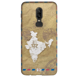 The Souled Store India Map Polycarbonate Mobile Back Case Cover for OnePlus 6 (121069, Brown)_1