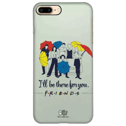 The Souled Store F.R.I.E.N.D.S - I'll Be There For You Polycarbonate Mobile Back Case Cover for Apple iPhone 8 Plus (73996, Black)_1