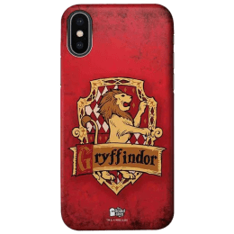 The Souled Store Harry Potter - Gryffindor Sigil Polycarbonate Mobile Back Case Cover for Apple iPhone X (75000, Red/Yellow)_1
