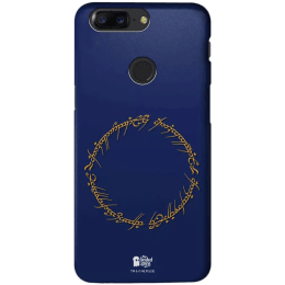 The Souled Store LOTR - Ring Inscription Polycarbonate Mobile Back Case Cover for OnePlus 5T (125934, Blue)_1