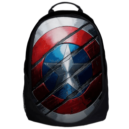 The Souled Store Captain America- Shield 25 Litres Laptop Backpack (Black)_1