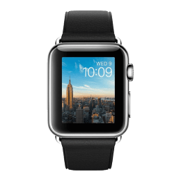 Apple Watch 38mm Stainless Steel Case with Black Classic Buckle_1