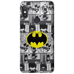 The Souled Store Batman - Comics Polycarbonate Back Case Cover for Xiaomi Redmi Note 5 Pro (118483, Black)_1