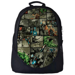 The Souled Store Marvel- Comic Pattern 25 Litres Laptop Backpack (Multicolour)_1
