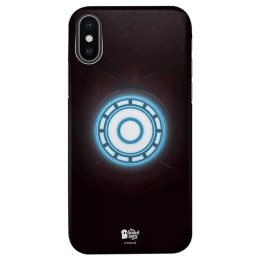 The Souled Store Iron Man - Arc Reactor Polycarbonate Mobile Back Case Cover for Apple iPhone X (75023, Multicolor)_1