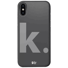 The Souled Store K. Polycarbonate Mobile Back Case Cover for Apple iPhone X (75035, Dark Grey)_1