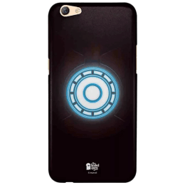 The Souled Store Iron Man - Arc Reactor Polycarbonate Mobile Back Case Cover for Oppo F3 (67248, Black/Blue)_1