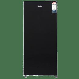 Haier 195 L 5 Star Direct Cool Single Door Refrigerator (HRD-1955CKG-E, Black Glass)_1